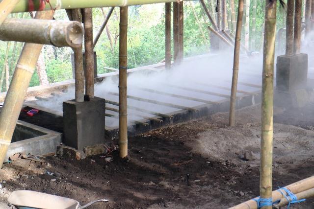 Teknik pengawetan bambu dengan pengasapan